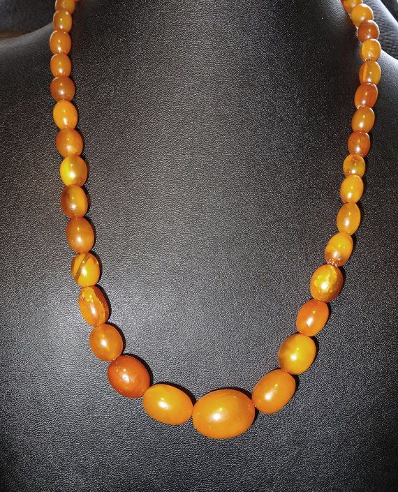 Unpolished Chunky Amber Necklace, 57 gram