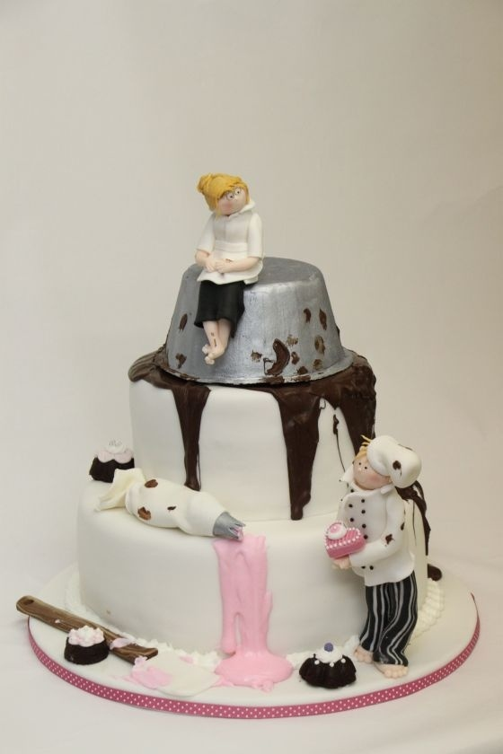 wedding cake for a pastry chef @Kaitlyn Armstrong Ingram haha...saw this and thought of you! :)