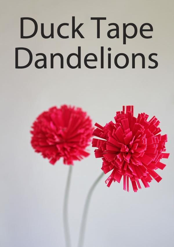 How to Make Duct Tape Dandelions | 101 Duct Tape Crafts