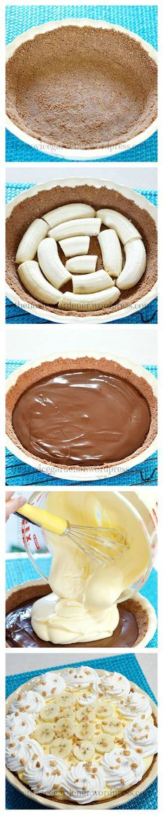 Chocolate Banana Cream Pie.