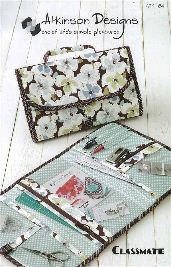 Pattern for a fold-up sewing carry/tote.