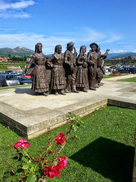 Sculptures of the Ponte de Lima garden - Northern Portugal