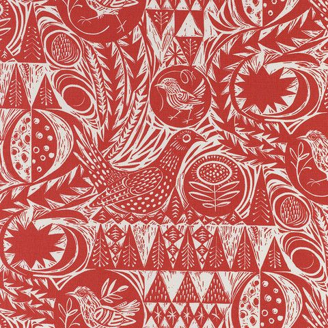Bird Garden - a printed fabric by artist Mark Hearld – St. Jude's Fabrics & Papers
