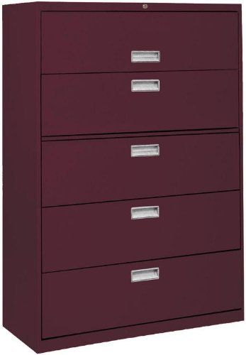 "42"" Wide 5 Drawer Lateral File IZA081 by Sandusky Lee. $897.00. 42"" Wide 5 Drawer Lateral FilebySandusky Lee Trusted: 20+ Years Experience. Overall: 42 in W x 19.25 in D x 65 in H ,. Save 30%!"