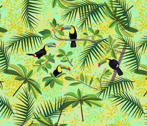 Toucans fabric by ornaart on Spoonflower - custom fabric