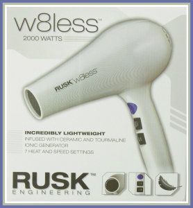 Rusk W8less Professional Lightweight Ceramic Tourmaline Hair Dryer, 2000 Watt The 7 heat and speed settings, and the tourmaline make a difference in the time it takes to dry your hair. It's easy on my arms. http://theceramicchefknives.com/ceramic-hair-dryer/ Rusk W8less Professional Lightweight Ceramic Tourmaline Hair Dryer