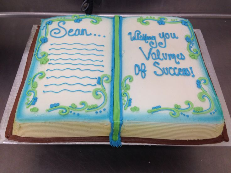 Cake Decorated Like Books : Shaped opened book Cake Baby/shower ideas Pinterest ...