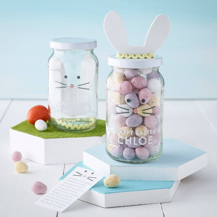 personalised decorate your own easter bunny jar by jg artwork | notonthehighstreet.com