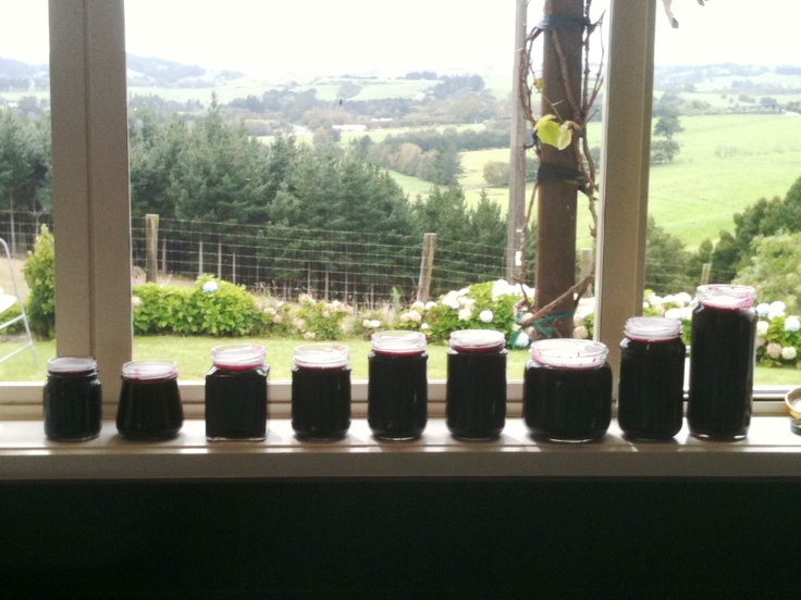 Our plum tree jam this time :-) My turn to give it a go.....