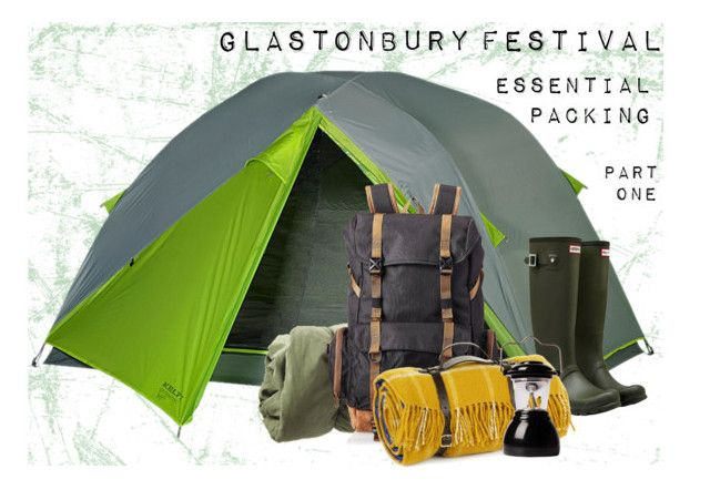"""glastonbury // camping essentials"" by rosemarykate ❤ liked on Polyvore featuring art"