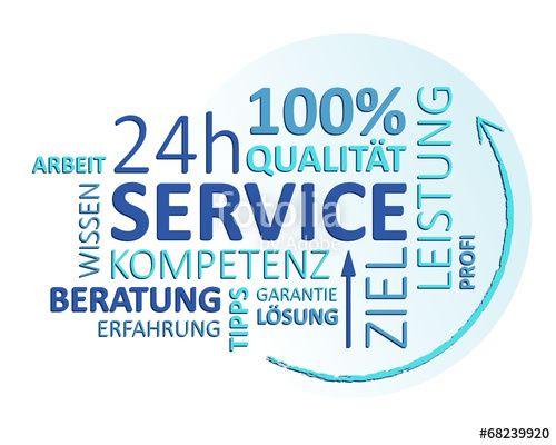 Vektor: service schild