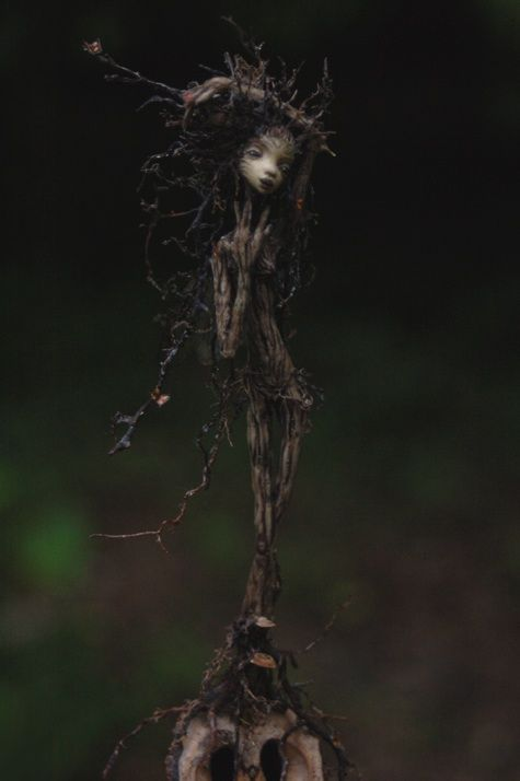 """One of the dryads? She's little enough. ;-)  """"Roots: Rootling - ChicoryDellArts"""""""