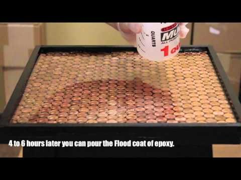 Penny table....definitely doing this with my penny collection!