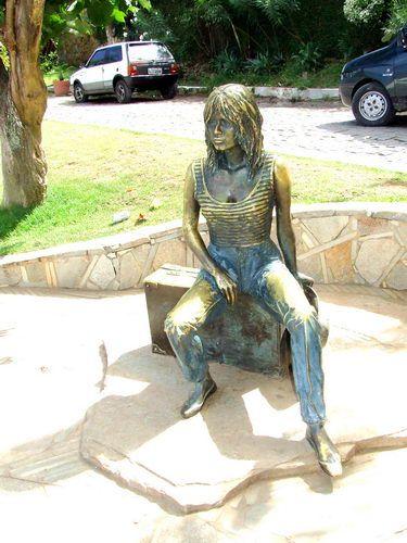 Buzios - Charming Brazilian Beach Town Near Rio de Janeiro: Buzios, Brazil - Statue of Brigitte Bardot in Buzios, Brazil