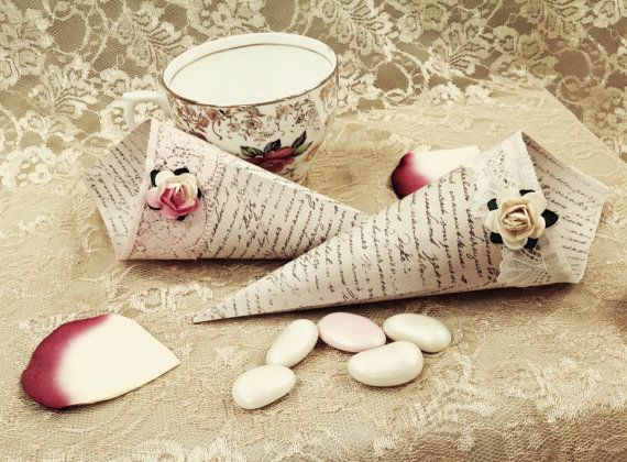 Shabby Chic Vintage Favour/Confetti Cones by VeryVintageBoutiques, £4.95