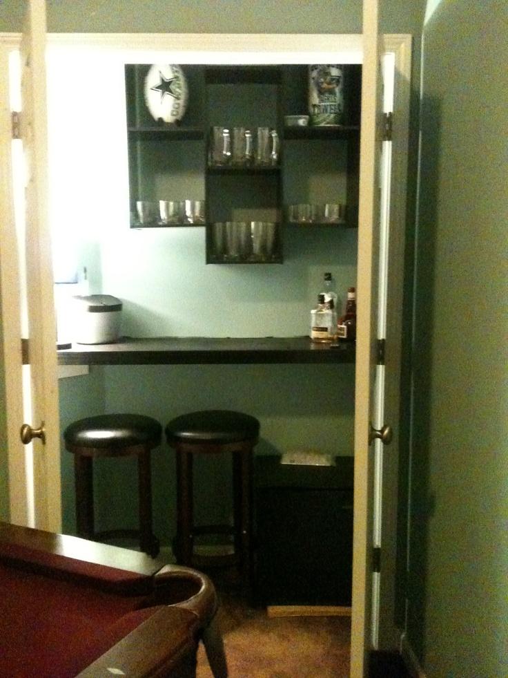 Man Cave Closet Ideas : Best dry closet bar images on pinterest