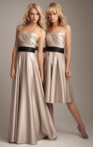 Forever Stain Watermelon/Light Champagne Bridesmaid Dress BNNAK0103-Bridesmaid UK