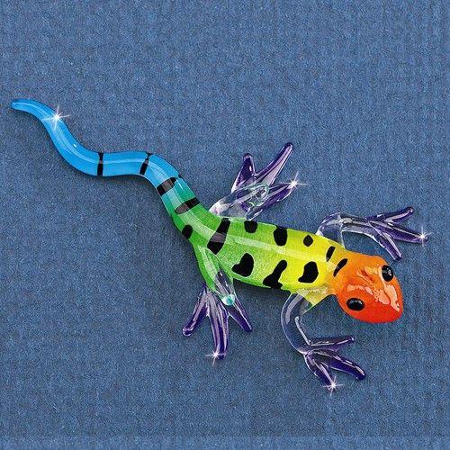Glass Baron Small Gecko Glass Figurine