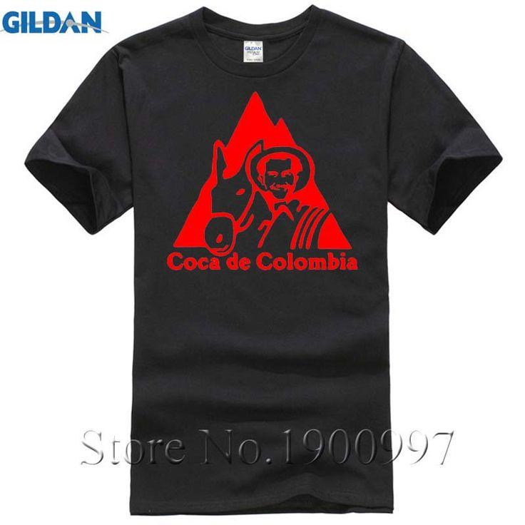 Pablo Escobar T Shirt COCA DE COLOMBIA KOKAIN EL CHAPO WEED Gangster,mafia, T-Shirt Summer Fashion camisas Top Men Women #Affiliate