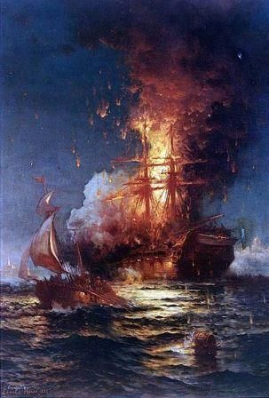 "The Barbary Powers Wars were the first wars officially declared against America following our victory in the War for Independence. [1] Muslim terrorists from five different Islamic nations (Turkey, Tunis, Morocco, Algiers, and Tripoli) were making indiscriminate attacks against the property and interests of what they claimed to be ""Christian"" nations (America, England, France, Spain, Portugal, Denmark, Sweden, etc.). [2] These Muslim terrorists (called Barbary, that is, barbaric ""pirates""…"