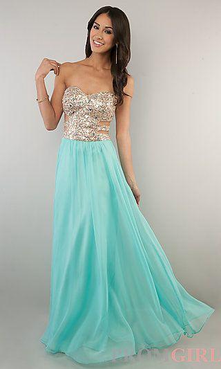 Floor Length Strapless Sweetheart Prom Dress at PromGirl.com (dress I want)