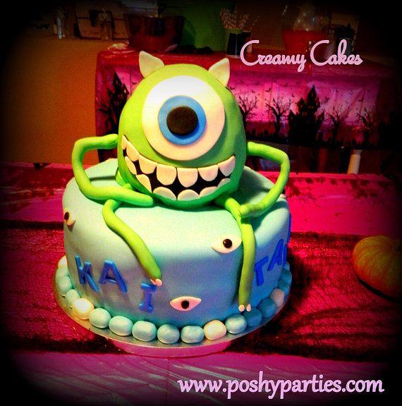 "SALE-Mike Wazowski Cake Topper 10""-Monsters Inc Party-Monsters University-Mike Wazowski"