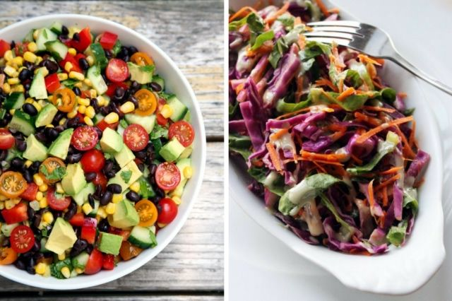 Zdrowe sałatki na lunch do pracy poniżej 300 kalorii