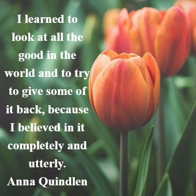 Anna Quindlen: On All the Good