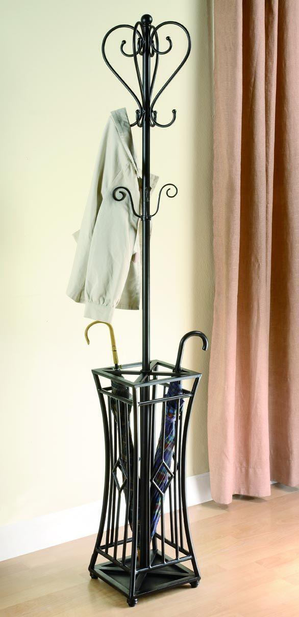 traditional black coat rack
