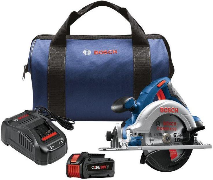Bosch CCS180-B14 Cordless Circular Saw Kit, 18 Amps, 18 Volts