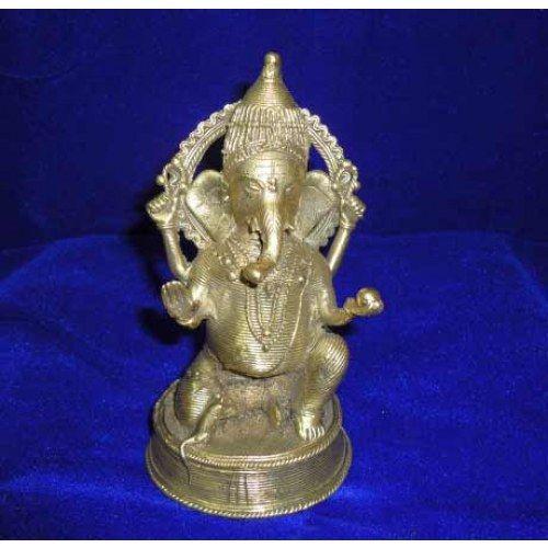 Dokra Home Decor Ganesha Statue Sitting