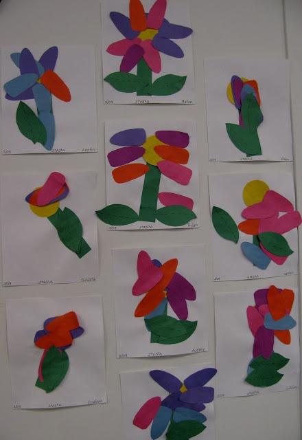 open-ended art for children, flowers for spring in childrens art