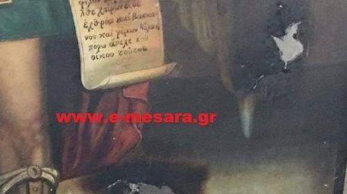 Βεβήλωσαν Ιερό Ναό στην Κρήτη -Εγραψαν «Ο Αλλάχ είναι μεγάλος»
