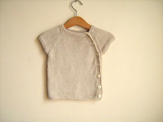 Baby vest beige. Bamboo newborn sweater. Knitting by ATLASKNITSHOP, $25.00