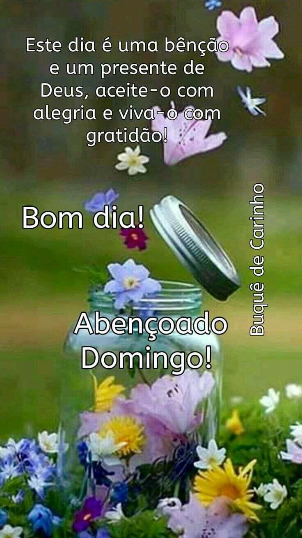 Bom Domingo A Todos Nos Com Imagens Mensagens De Bom Dia