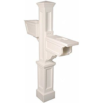 Mayne 5830-WH Westbrook Plus Mailbox Post, White - Mailbox Poles - Amazon.com
