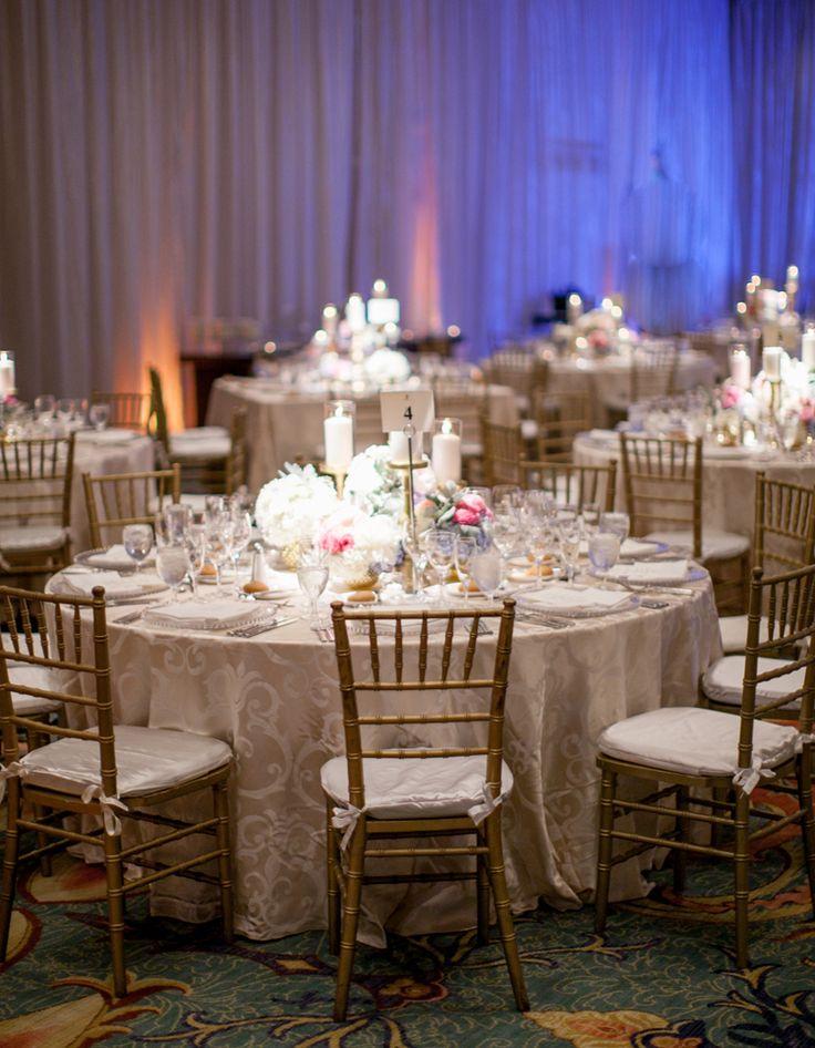 Luxurious beach wedding reception atthe Ritz Carlton Naples | Florida outdoor hotel wedding venues ballroom indoor (Clane Gessel Photography)