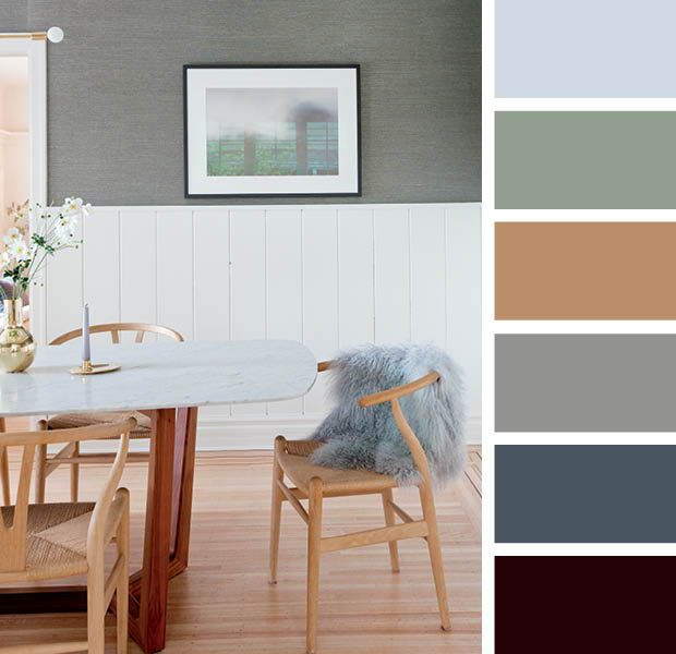 15 Designer Color Combinations To Help You Find Your Perfect Palette Brown And Blue Living Room Color Palette Living Room Living Room Grey