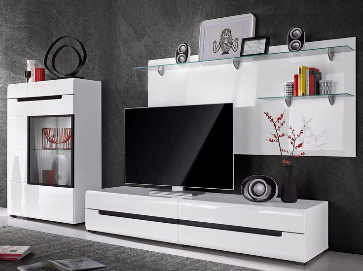 Wohnzimmermöbel weiß  Die besten 25+ Wohnwand weiß hochglanz Ideen auf Pinterest ...