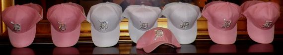 Swarovski Crystal Blinged Detroit Tiger Baseball Cap - Only Pink With Pink Letter D Left - End of Season Reduced Price