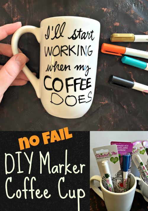 No Fail DIY Marker Coffee Cup