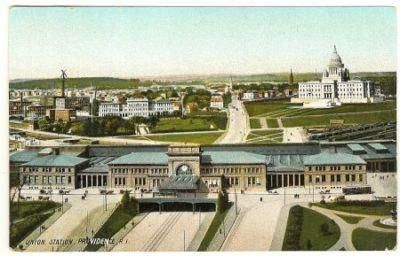 Vintage Color  Postcard Union Station  Providence    R.I. United States by FaysTreasuretrove, $6.95 USD