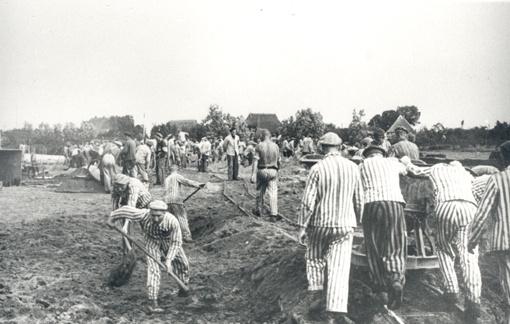 """Neuengamme Concentration Camp """"Kommando Elbe""""."""