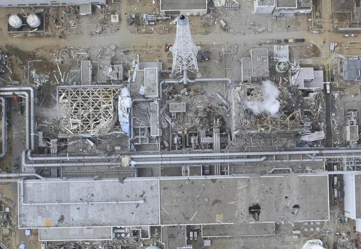 fukushima daiichi: Air Photo, Aerial Photo, Crippled Fukushima, 2011 Aerial, Nuclear Power, Fukushima Daiichi, Damaged Unit