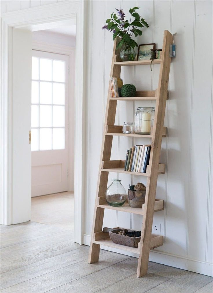 £250 Our original Raw Oak Shelf Ladder, with 6 graded shelves, offers a striking and fresh shelving alternative.