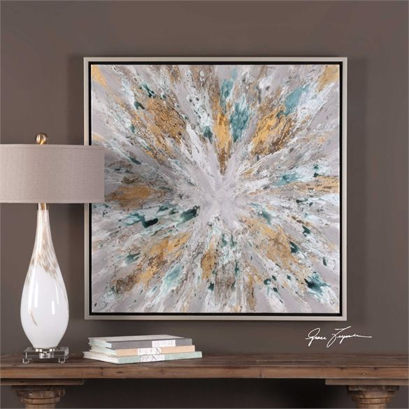 Uttermost exploding star wall art enliven your home with the statement making style of uttermost exploding star wall art this richly hued abstract