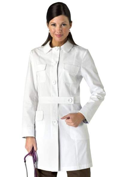 "Koi Geneva lab coat. I really like this one--very different which of course is signature style for ""she"" (i.e. me!)"