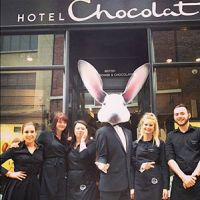 Fancy getting you hands on some free chocolate egglets and a picture with the famous Hotel Chocolat Easter Bunny?