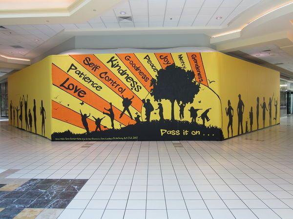 Best 25 school murals ideas on pinterest for Education mural