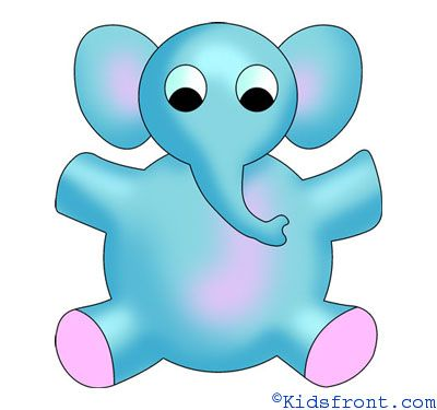 how to draw a cartoon elephant for kids